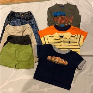 Toddler's bundle of 9 shirts/jeans size 6-12 mos